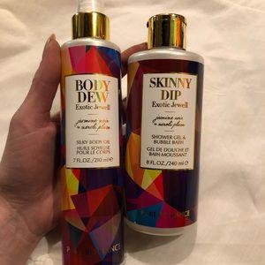 Shower jell/ bubble bath & body oil